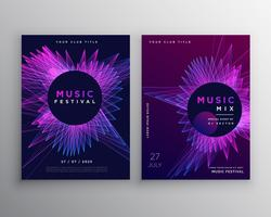music party flyer poster invitation template design