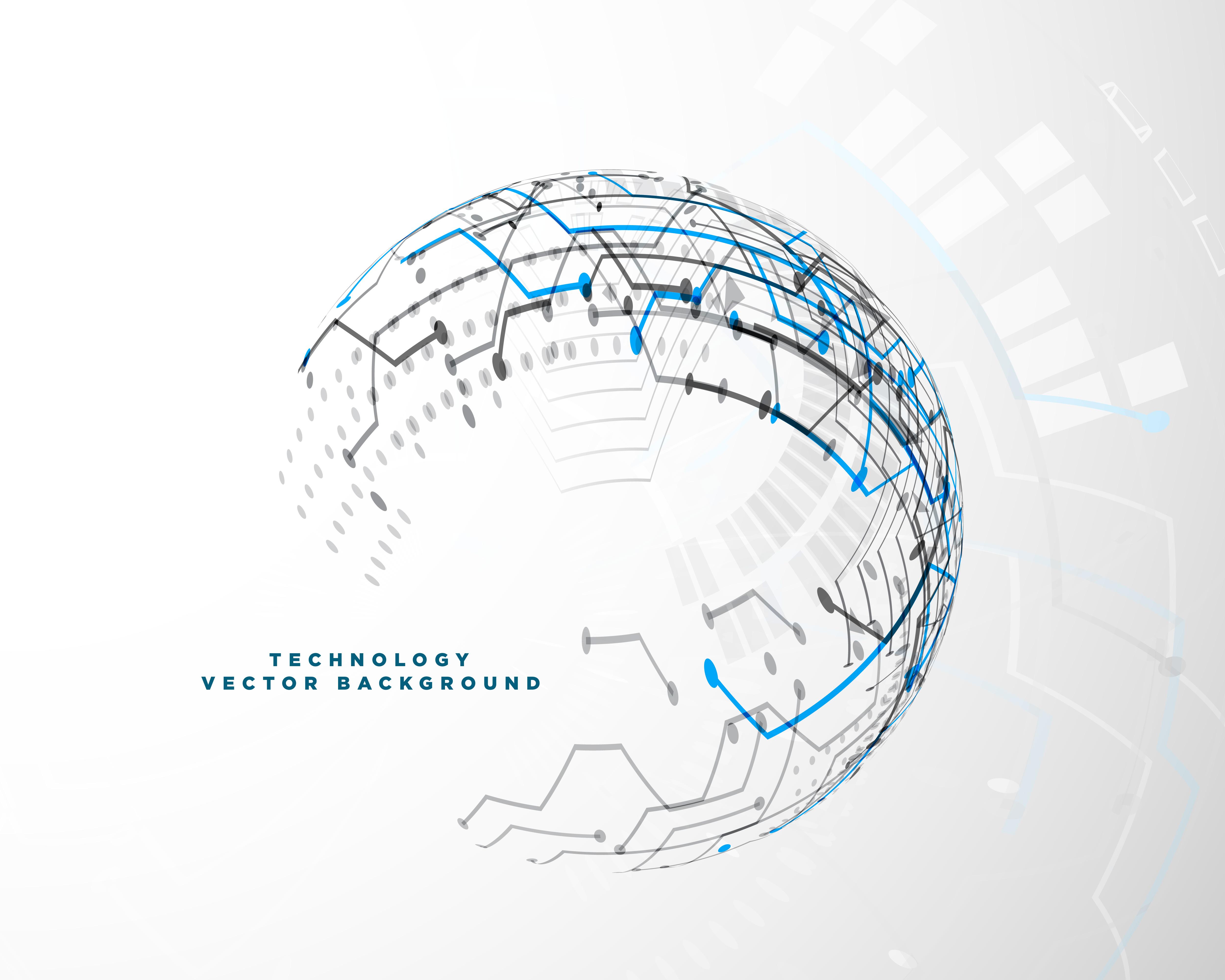 Technologie-Innovation-Konzept-Design mit digitalem Netzwerk ...