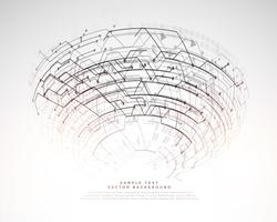futuristische technologie digitale achtergrond met netwerkkring li