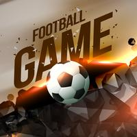 abstract creative football game visualization
