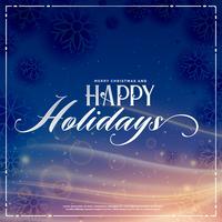 felices fiestas saludo de temporada de invierno con efecto de luz