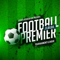 conception abstraite du jeu de football league flyer