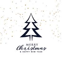 christmas card greeting with tree design