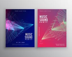 conception de modèle flyer musique abstraite avec des lignes abstraites maille