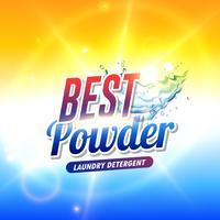 pó detergente para roupa ou produto de sabão conceito de embalagem