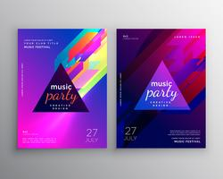 abstract club music party flyer template design