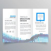 creative blue trifold business brochure design template