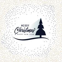 merry christmas card design with tree