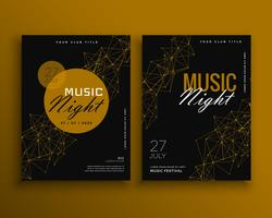 music night party flyer vector template design