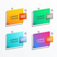 design de modelo de banner de venda geométrica em estilo memphis