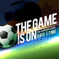 plantilla de juego de fútbol para el torneo