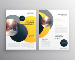 moderna gul geometriska flygblad affischdesign mall