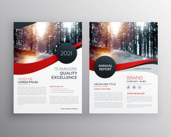 moderne rote Business-Flyer-Poster-Design-Vorlage