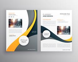 stylish yellow gray business brochure poster leaflet vector desi