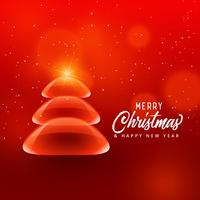 creative christmas tree design in bubble style on red background