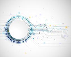Design de conceito de tecnologia com padrão de estrutura de placa de circuito v