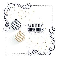 beautiful christmas ornaments decorative elements background