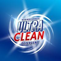 diseño de concepto de envasado de detergente creativo con efecto de remolino