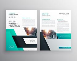 Modern geometric busines flyer poster brochure design template