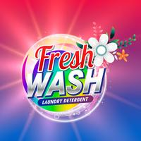 fresh laundry detergent or doap cleaning product packaging with