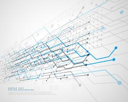 fond de lignes de réseau de circuits imprimés de technologie abstraite