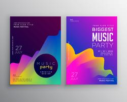 lebendige abstrakte Musik Party-Event-Flyer-Poster-Template-Design