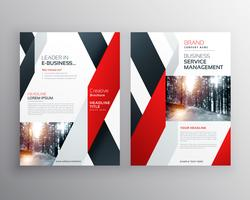 modèle de conception d'affiche flyer business forme géométrique noir rouge