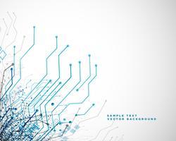 teknik nätverk krets linjer abstrakt bakgrund