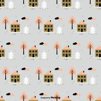 Seamless Winter Vector Pattern