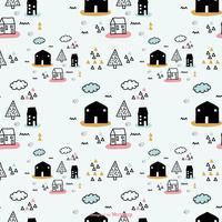 Doodle Scandinavian Vector Pattern