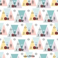 Scandinavian Geometric Vector Pattern