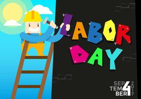 Labour Day Vector Background
