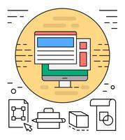 Ícones web lineares gratuitos