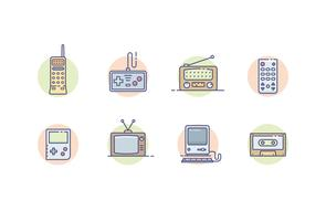 gadgets vintage vetor