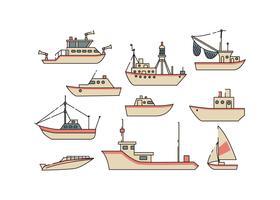 Vettore libero dell'icona della scheda e della nave