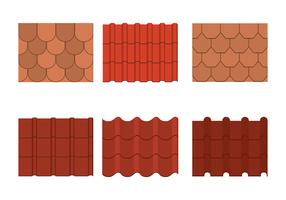 Roof Tile Icons Set