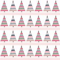 Childish Christmas Tree Vector Background