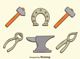 Blacksmith Tools Collection Vector