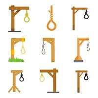 Free Gallows for Hanging Vector