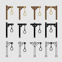 Gallows Vector Icons
