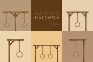 Hanging Gallows Vector Set