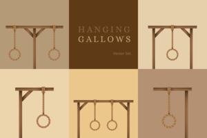 Hanging Gallows Vector Set