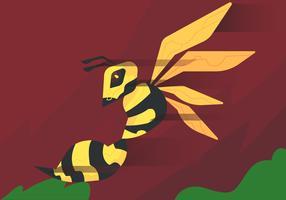 vector de picadura de hornets