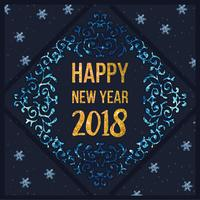 Vector Happy New Year Card
