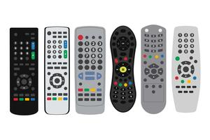Vecteurs de télécommande TV
