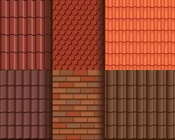 Roof Tile Seamless Pattern Wallpaper vector