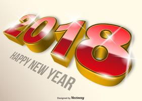 Modernes 2018 frohes neues Jahr Vector farbigen Hintergrund