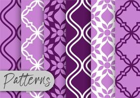 Purple Decor Pattern Set