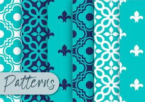 Blauwe decor patroon set