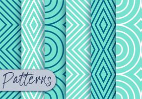 Blue Line Pattern Set  vector